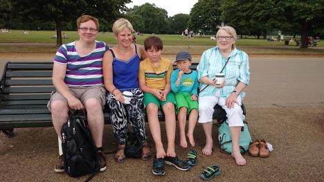 Här är vi i Hyde Park. Foto: Kristina Berg